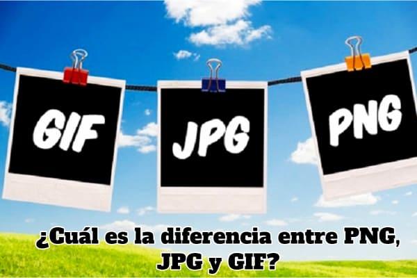 diferencias entre jpg, gif y png
